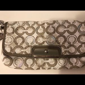 NWT Coach Kristen Sequin Clutch